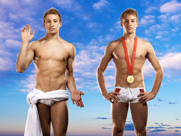 Double Icon (Portrait of Matthew Mitcham with Olympic Gold Medal, Beijing Olympics, 2008)